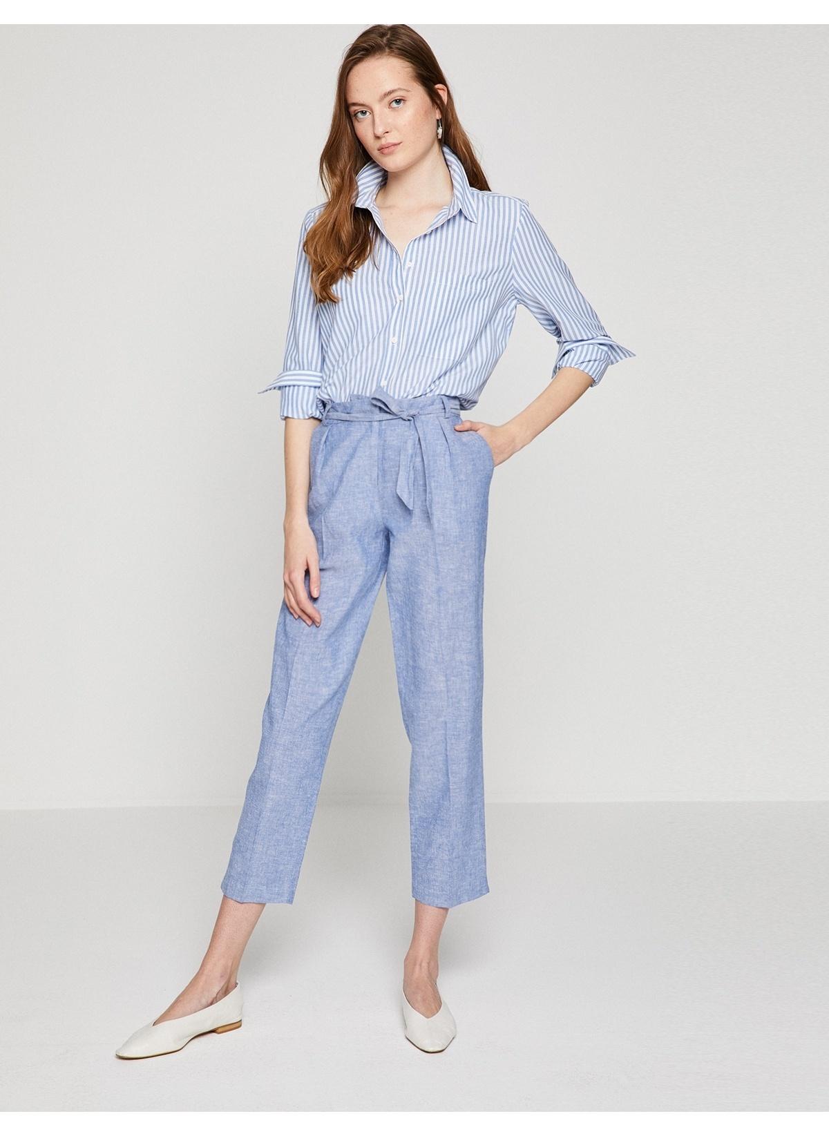 390f8662d9770 Koton Kadın Pantolon Indıgo İndirimli Fiyat | Morhipo | 22964279